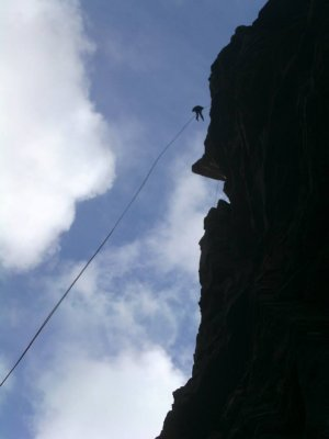 The big abseil off the Old Man