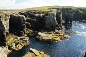 The sea cliffs of Yesnaby