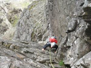 Kings Chimney on the Cuillin ridge traverse