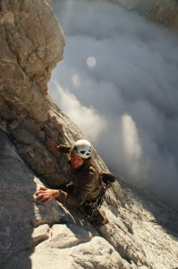 On the classic Martinez route, Naranjo south face