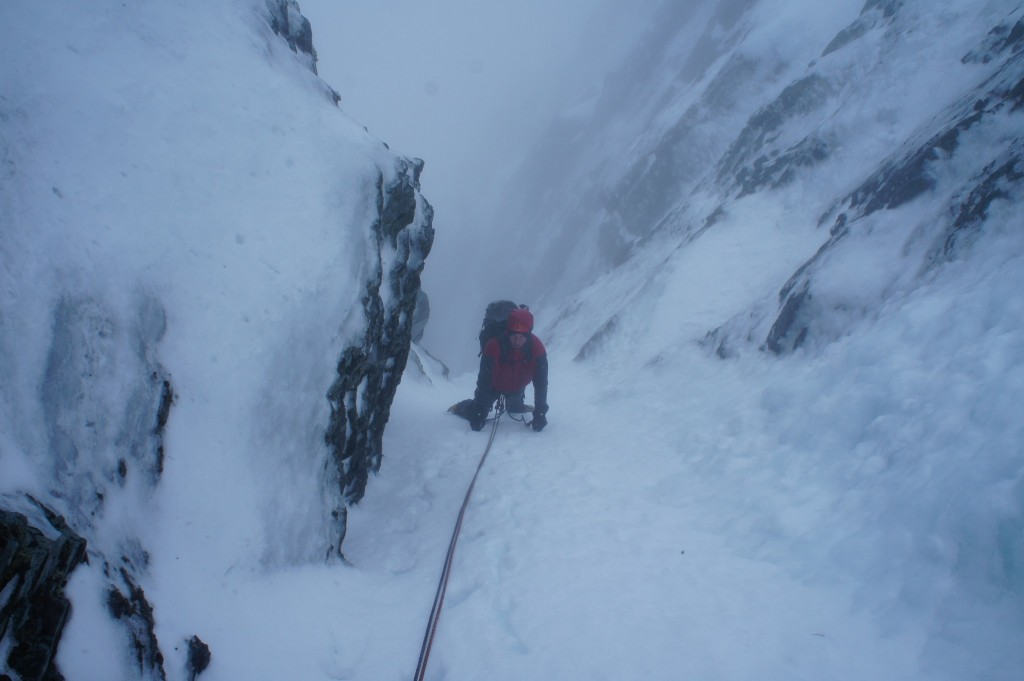 Green Gully after crux